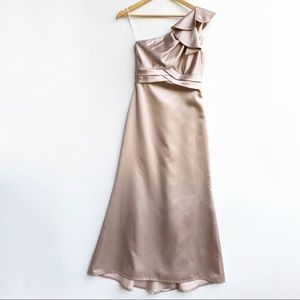 Dessy Collection Formal Gown One Shoulder Size 6